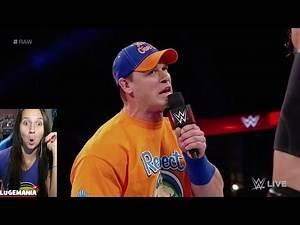 WWE Raw 9/11/17 John Cena Roman Reigns FAKE NEWS