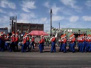 Lincoln Park High School marching band at Detroit St. Patrick's Day Parade