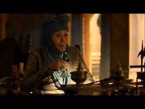 Olenna Tyrell speaks with Tywin Lannister