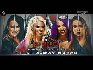 WWE No Mercy 2017 Fatal 4-Way Alexa Bliss vs Sasha Banks vs Emma vs Nia Jax Official Match Card