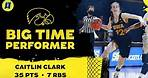 Caitlin Clark explodes for 35 points, sends Iowa to Sweet 16