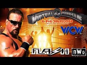 Virtual Pro Wrestling 64 N64 - WCW World Heavyweight Title - Scott Norton (1080p/60fps)