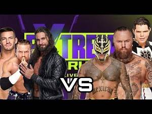 Seth Rollins,Buddy Murphy and Austin Theory VS Rey Mysterio,Aleister Black and Humberto Carrillo