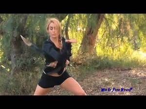 BIKINI KARATE GIRL VS. German Female Martial Artist Chinese Swords☯ SEXIEST WOMEN KUNG FU EXPERTS!