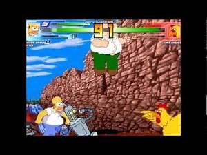 Mugen 7: Homer,Peter and Bender vs Chicken
