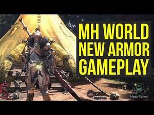 Monster Hunter World ALL GEAR SETS FROM GAMESCOM Gameplay (Monster Hunter World Armor)