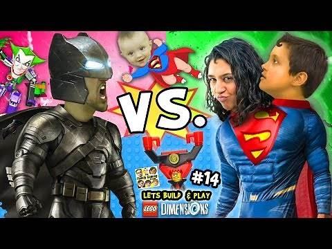 BATMAN vs. SUPERMAN! Lets Build & Play LEGO Dimensions #14: w/ Superbaby, Lord Business & Joker Bot