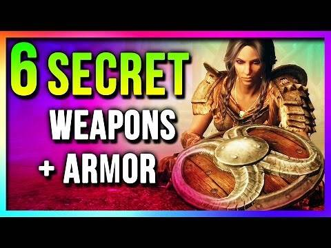 Skyrim 6 SECRET Unique Weapons & Armor Locations (Best EASY To Get Special Edition)