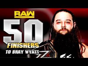 WWE 2K17 - 50 FINISHERS TO BRAY WYATT🔥