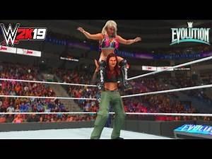 WWE-2K19-Trish Stratus & Lita vs. Mickie James & Alexa Bliss-Evolution 2018