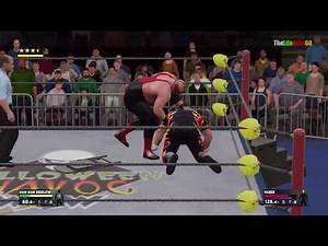 WWE2K17 Bam Bam Bigelow vs. Vader for title WCW HardCore Championship