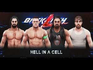 WWE-2K19-John Cena vs Roman Reigns vs Dean Ambrose vs Seth Rollins:Hell In A Cell Match