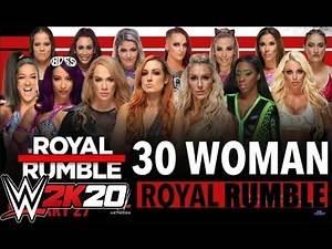 WWE ROYAL RUMBLE 2020 FEMININ WWE 2K20