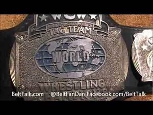Real Ring Used WCW World Championship Wrestling Tag Team Wrestling Title Belt WWF WWE NWA