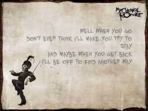 I don't love you - lyrics - My Chemical Romance