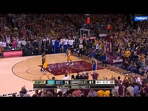 LeBron James posterizes Klay Thompson with MONSTER alley-oop! (Game 3, NBA Finals 2015)