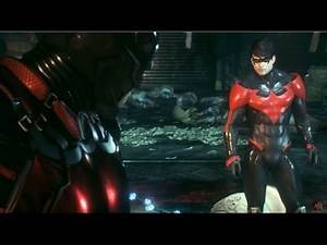 Batman Arkham Knight - Nightwing Gameplay (Meeting Penguin for first time)