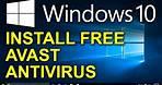✔️ Windows 10 - Free Avast Antivirus - How to Install Free Antivirus for Windows 10