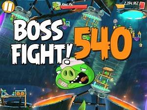 Angry Birds 2 Boss Fight 72! King Pig Level 540 Walkthrough - iOS, Android