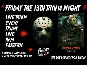 Friday The 13th PART 5 Trivia Night A New Beginning Week 5