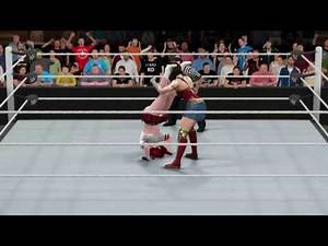 WWE 2K17 Wonder Woman (Movie) vs. Candy Cane - Submission Match
