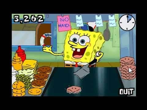 SpongeBob Squarepants Burger Game Flip or Flop