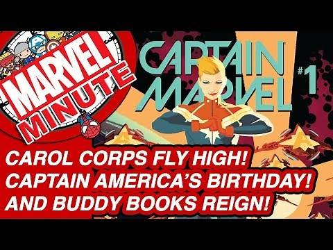 Captain America's Birthday! Carol Corps fly high! And buddy books reign! - Marvel Minute 2016