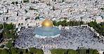 Temple mount, Old City of Jerusalem - Aerial