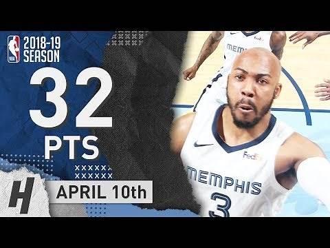 Jevon Carter Full Highlights Grizzlies vs Warriors 2019.04.10 - 30 Pts, 8 Threes!