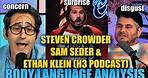 Steven Crowder's Insecure Body Language with the H3 Podcast is Revealing | Nonverbal Analyst Reacts