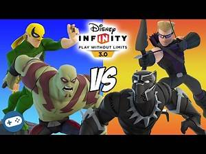 Iron Fist and Drax VS Black Panther and Hawkeye Marvel Battlegrounds Versus Disney Infinity 3.0