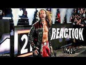 edge RETURNS / people's reaction and crowd reaction - Royal Rumble 2020