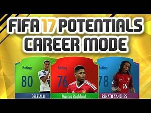 FIFA 17 CAREER MODE POTENTIALS! BEST YOUNG PLAYERS AND HIDDEN GEMS!