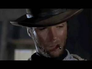 Badass Movie scene: Clint Eastwood Poncho trick