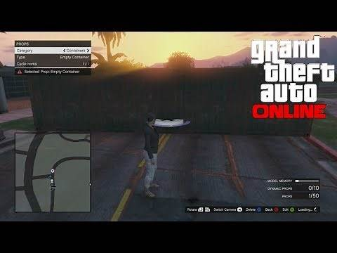 """""""GTA 5 Online"""" Spawn Props In An Online Session Tutorial! (Creator Mode On Person)"""