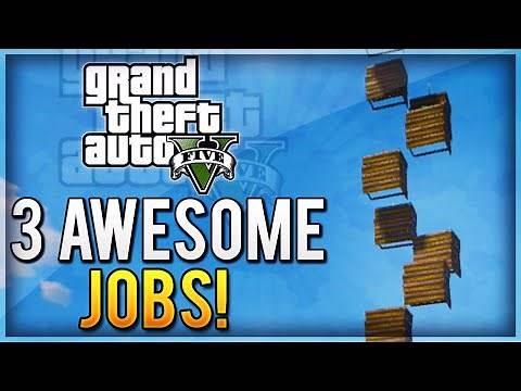 GTA 5 EPIC JOBS - 3 Fun Gamemodes Online (Tower Of Death, Windmills of Doom, Modded Vehicles!)
