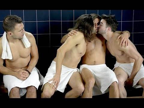 GUYS KISSING IS HOT? 200th episode - Steam Room Stories.com