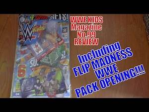 BRAND NEW! ☆ WWE KIDS MAG (no99) review ☆ WWE FLIP MADNESS PACK OPENING!