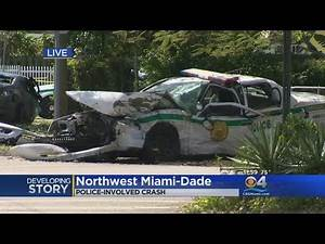 2 Injured, Including Police Officer, In Three Vehicle Crash