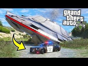 I found a UFO Crash Site... See what happens next *ALIENS*!! (GTA 5 Mods Gameplay)