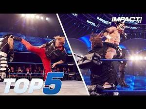 Top 5 INSANE Maneuvers from oVe vs Lucha Bros | IMPACT! Highlights Aug 2, 2018