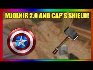 THOR'S HAMMER AND CAPTAIN AMERICA'S SHIELD GLOCK MOD! (Blade and Sorcery)