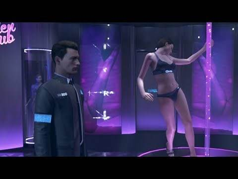 Detroit Become Human - Investigating The Strip Club