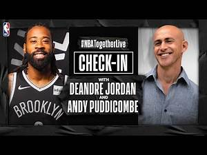 #NBATogetherLive Check-In With DeAndre Jordan & Andy Puddicombe