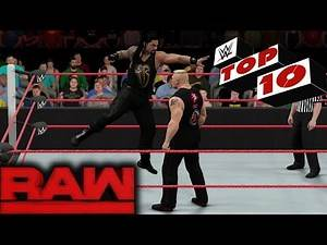 WWE 2K17 - RAW Top 10 Finishers   Jan.16, 2017