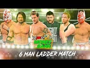 WWE 2K17 6 Man Money In The Bank Ladder Match Gameplay