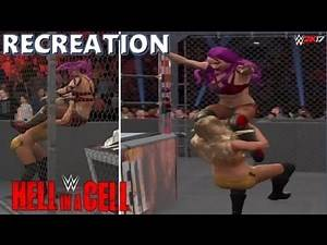 WWE 2K17 RECREATION: SASHA BANKS VS CHARLOTTE   HELL IN A CELL 2016 HIGHLIGHTS