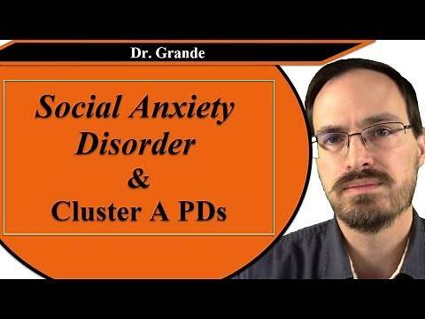 Social Anxiety Disorder and Cluster A Personality Disorders (Paranoid, Schizoid, Schizotypal)