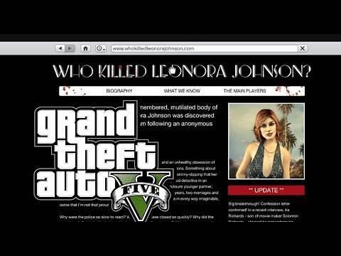GTA 5 Who Killed Leonora Johnson? Easter Egg Website