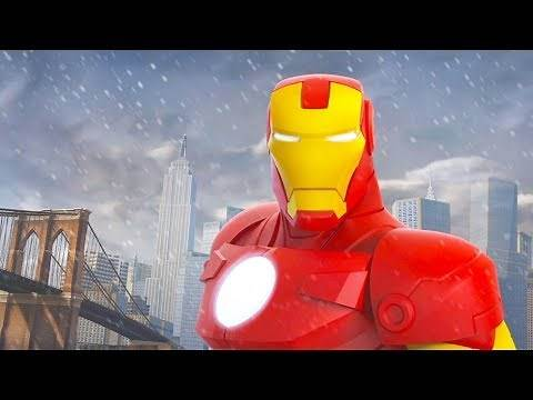 IRON MAN Cartoon Game Videos for Kids - Video Games for Children - Disney Infinity 2.0